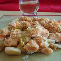 Crumble saumon/fondue de poireaux : oui, le poisson, c'est bon !