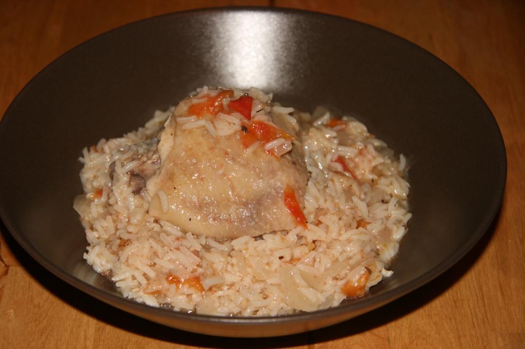 recette antillaise Poulet au riz
