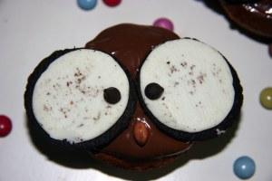 Halloween Muffins: Hiboux au chocolat!
