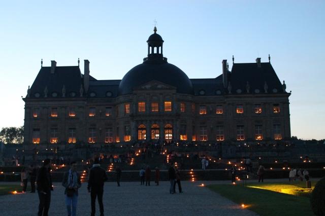 Vaux Le Vicomte bougies illumination