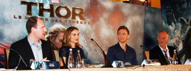 Kevin Feige, Natalie Portman, Tom Hiddleston et Alan Taylor