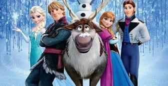 Elsa, Kristoff, Sven, Anna et Hans